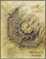 The city of Redwall for Rhune by torstan
