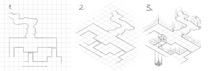 How to draw isometric dungeon plans by torstan