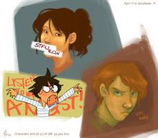 hogwarts trio betch fights. by flominowa