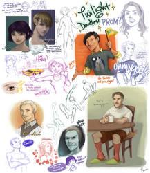 Twilight Sketch Dump by flominowa