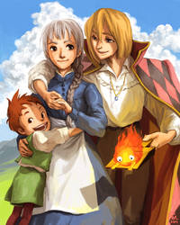 Howl's Moving Castle by flominowa