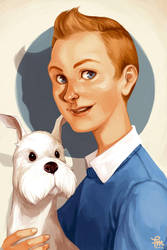Tintin et Milou by flominowa