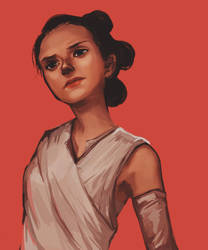 The Force Awakens - Rey by flominowa