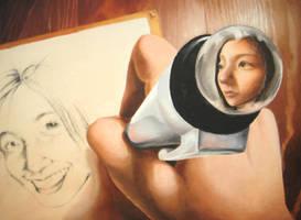 Self Portrait in Oil by flominowa