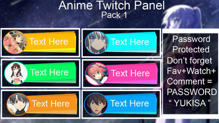 PSD Anime Twitch Panel Pack #1 by nisa-niisan