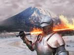 Knight of fire by Gudai