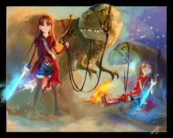 Carola - The Princess and the Dinosaur by DiegooCunha