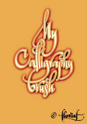 My calligraphy brush by FL0RINF