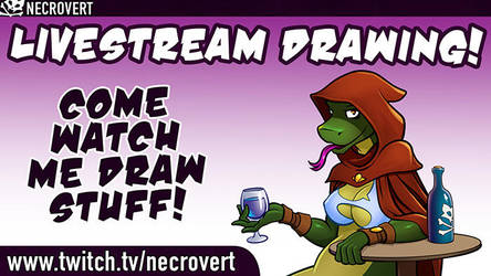 Inking Live Stream by Necrovert