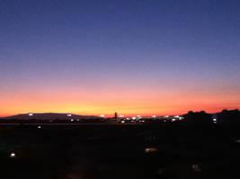 sunset by littlebluewildfire