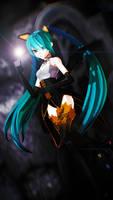 Miku Halloween by ShootingStarBlue