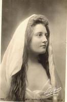 vintage gorgeous veiled woman by MementoMori-stock