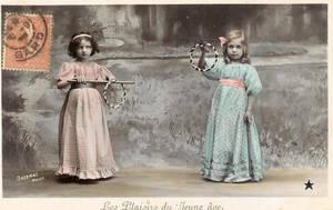 vintage postcard girls VI by MementoMori-stock