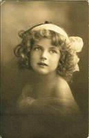 vintage postcard girl XII by MementoMori-stock