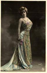 Vintage lady in costume  XXXI by MementoMori-stock