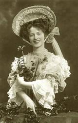 Vintage smiling edwardian lady 001 by MementoMori-stock