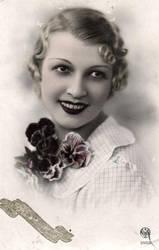 Vintage smiling flapper 002 by MementoMori-stock