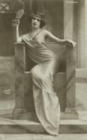 Vintage actress in a throne by MementoMori-stock