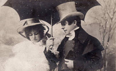 Vintage romantic couple  0020 by MementoMori-stock
