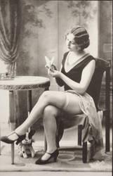 Vintage coquette risque Flapper 001 by MementoMori-stock