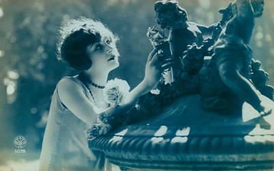 Vintage flapper in blue 002 by MementoMori-stock