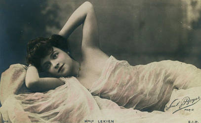 Vintage resting lady in tulle 001 by MementoMori-stock