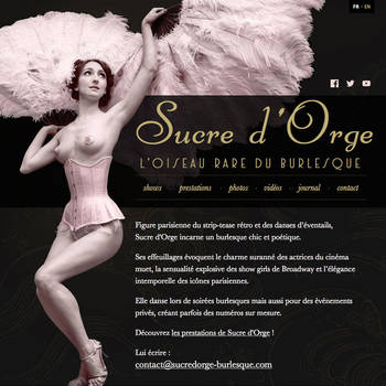Sucre d'Orge website by kReEsTaL