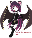 Layla the vampire bat by Crystalthehedgehog9