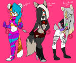 Song theme female mobians adopts(CLOSED) by Winelys-11Adopts
