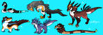 Reptile adopts flatsale (open) by Winelys-11Adopts