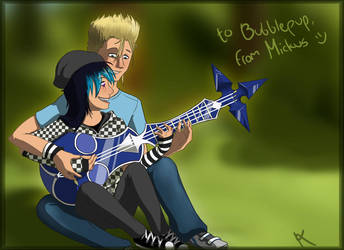 Art trade guitar lesson by MickusTheDutch