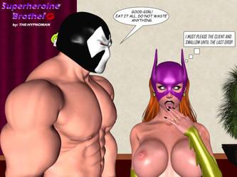 Bane and Bat-bitch by THE-HYPNOMAN