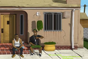 GTA V - Franklin and Lamar by Cemetpuu