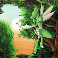 Scyther by Kenisu-of-Dragons