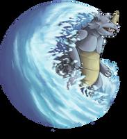 Rhydon Use Surf by Kenisu-of-Dragons