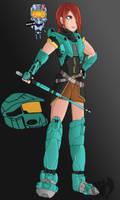 Agent Carolina-RWBY Style by Kenisu-of-Dragons