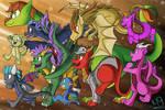 Dragon Run by Kenisu-of-Dragons