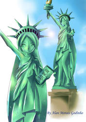Miku Statue Of Liberty By Alan Morais Godinho by hirkey