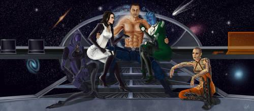 Mass Effect Harem by Haddrian
