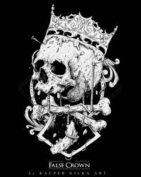 Tshirt design for metal band False Crown by KGArtDesign