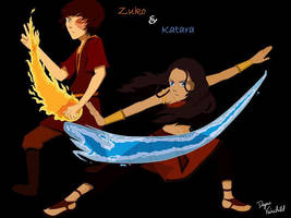 Zuko and Katara by Daynamf