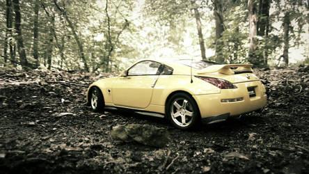 Nissan 350Z Nismo AutoArt in forest by Nexert
