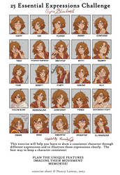 25 expressions meme (AlexandeNight) by AlexandeNight