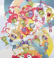 Happy Monsters by So-ghislaine
