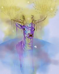 Blue Deer by So-ghislaine