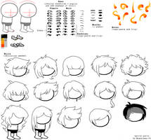 Head stuff sprite sheet by Magdaneela