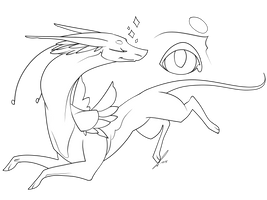 Fantasy Dragon 2 Lines NPF by jaclynonacloudlines