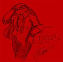 TMNT University Sketch - Raph by nichan