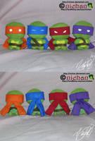 Chibi TMNT Plushies by nichan