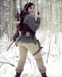 Lara Croft Rise of the Tomb Raider: walkie by Sara-Croft